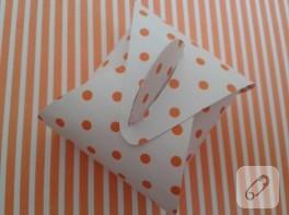Puantiyeli hediye paketi yapımı