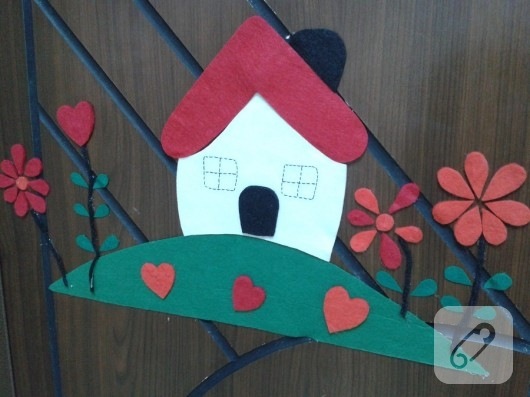Keçeden ev kapı süsü yapımı