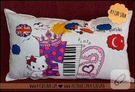 İsimli çocuk yastığı (kumaş boyama)