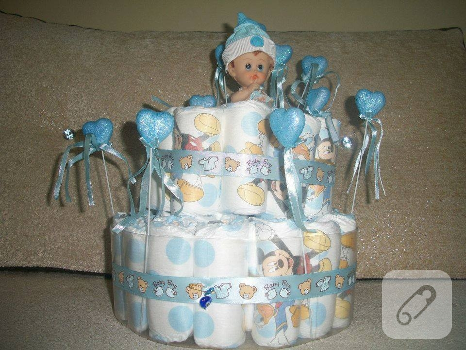 mavili-beyazli-bebek-bezi-pastasi