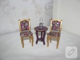 Varaklı minyatür sandalyeler