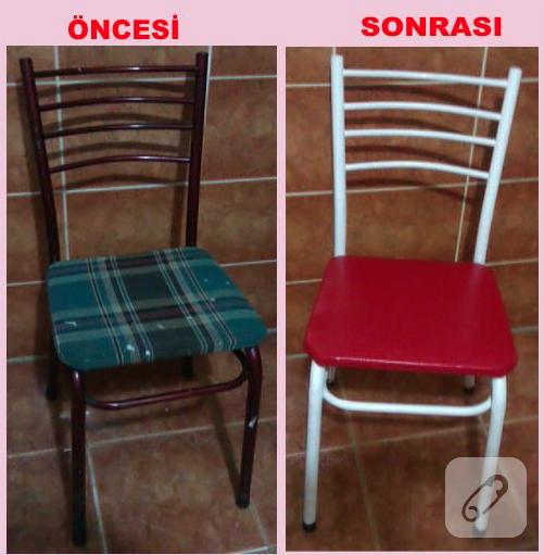 mobilya boyama sandalye yenileme