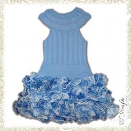 Fırfırlı örgü elbise