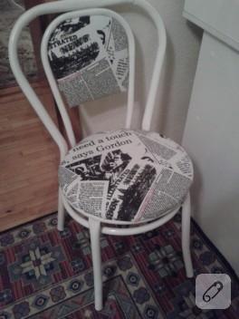 Sandalye boyama ve kaplama