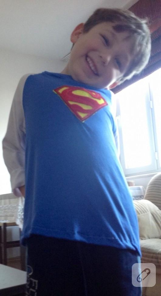 Superman aplikeli çocuk sweatshirt'ü