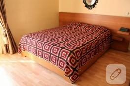 Tığ işi çift kişilik yatak örtüsü