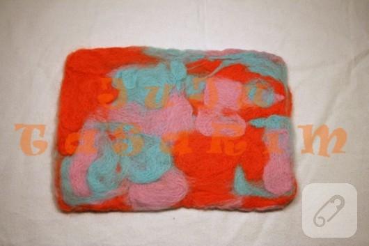 Yün keçeden keçe kumaş yapımı