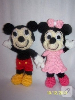 Amigurumi Mickey ve Minnie Mouse