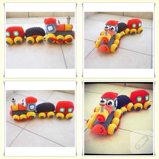 amigurumi-tren-oyuncak