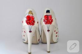 Özel tasarım düğün ayakkabıları
