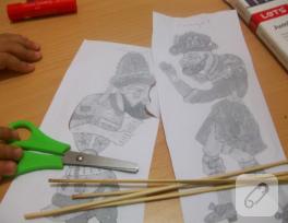 Basit Hacivat-Karagöz kuklası yapımı