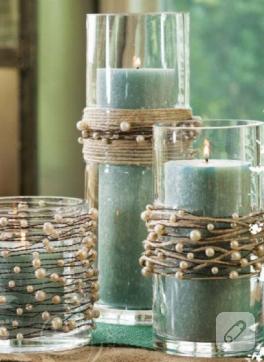 Son derece afilli dekoratif mumluklar