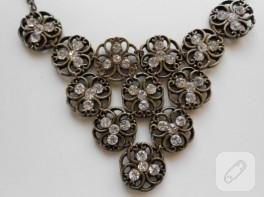 Antika metal düğmelerden kolye yapımı