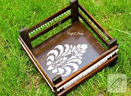 Dantel süslemeli dekoratif kasa