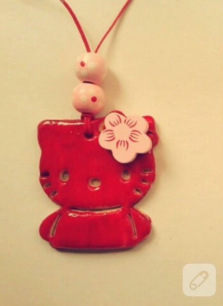 Hello Kitty'li seramik tabak