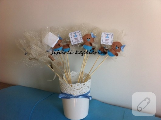 Çubuklu bebek şekeri magnetleri