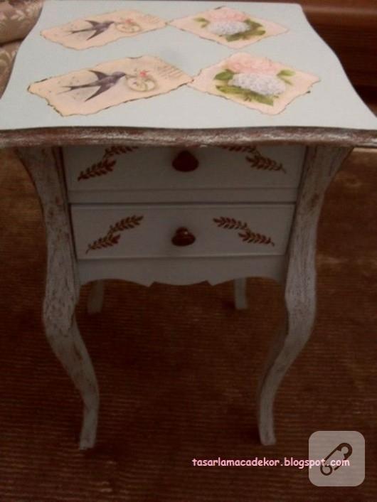 mobilya-boyama-eskitme-ile-sehpa-yenileme