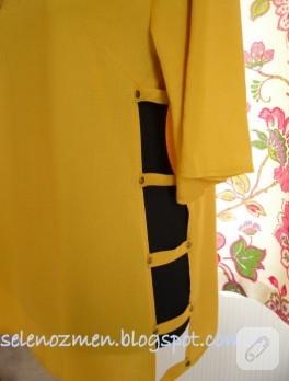 Kafesli sarı bluz