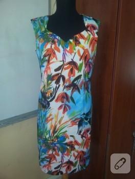 Desenli yazlık elbise