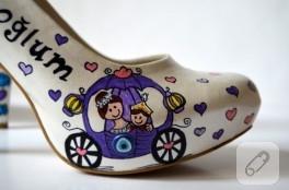 Sünnet annesi ayakkabısı – ayakkabı boyama