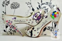 Mor gelin ayakkabıları