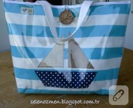 Şeffaf plaj çantası