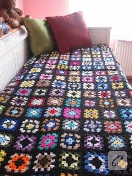 Hanım dilendi bey beğendi motifli battaniye, yatak örtüsü