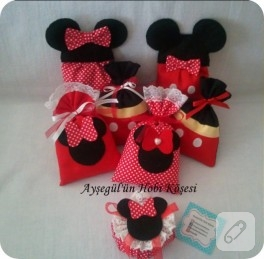 Minnie – Mickey Mouse figürlü lavanta torbası