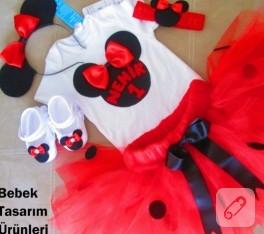 Minnie Mouse kırmızı tütü takımı