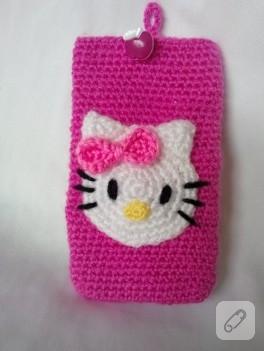 Hello Kitty – örgü telefon kılıfı