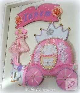 Balkabağı araba prenses kapı süsü