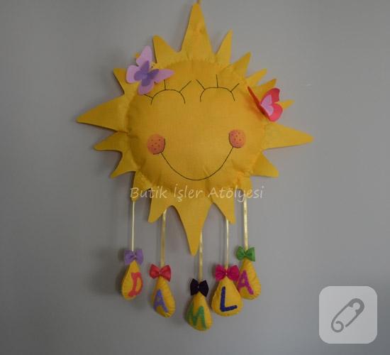 Güneş Bebek Kapı Süsü