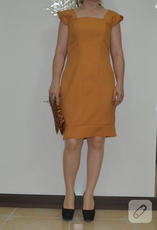 hardal-rengi-kolsuz-elbise-modelleri
