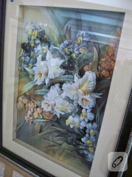 Kat-ı sanatı; çiçekli tablo