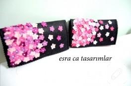 Çiçekli keçe cüzdanlar