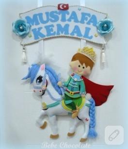 Atlı prens bebek kapı süsü
