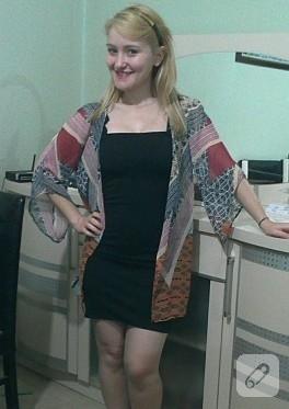 Küçük siyah elbise ve kimono