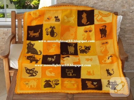 kedi-motifli-orgu-battaniye