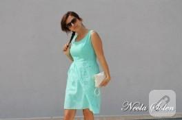 Mint yeşili fisto elbise