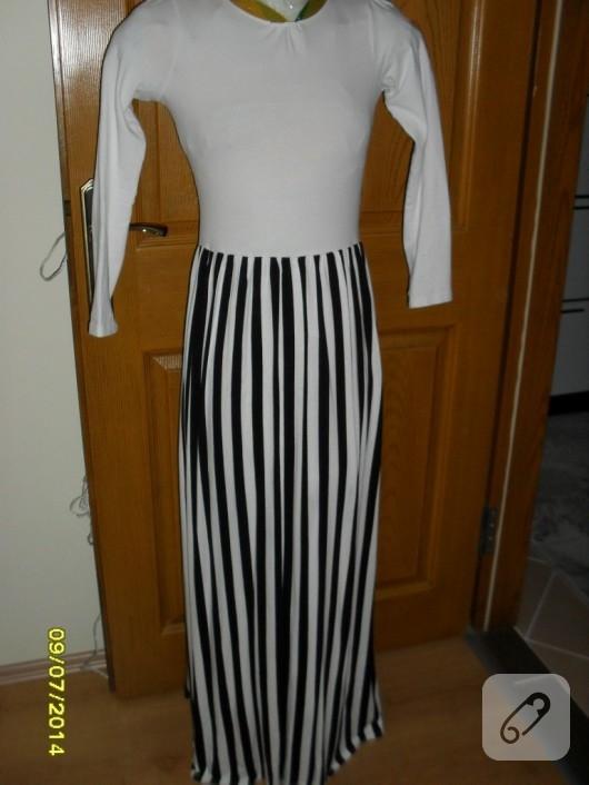 cizgili-elbise-modelleri