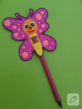 Çocuk etkinlikleri; kalem süsü yapımı