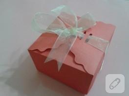 Kartondan minik kutu yapımı