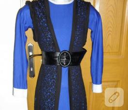 Saks mavisi elbise modeli