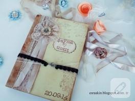 Scrapbook düğün anı defteri