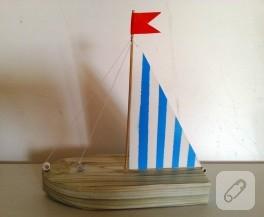 Yelkenli tekne yapımı (çocuk etkinlikleri)