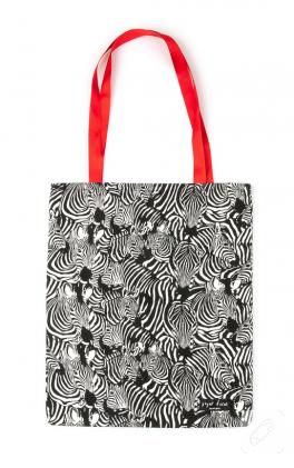 Zebra desenli kumaş çanta