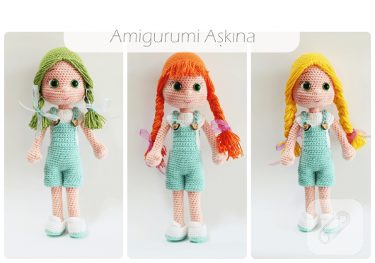 Amigurumi Bebek Tarifleri : Amigurumi bebek ve rengarenk kıyafetleri u marifet