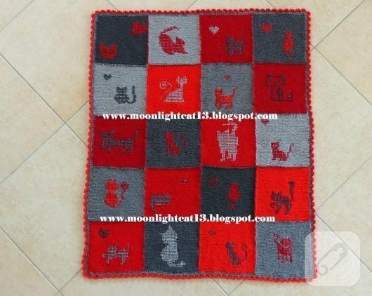 orgu-modelleri-kedi-motifli-battaniye