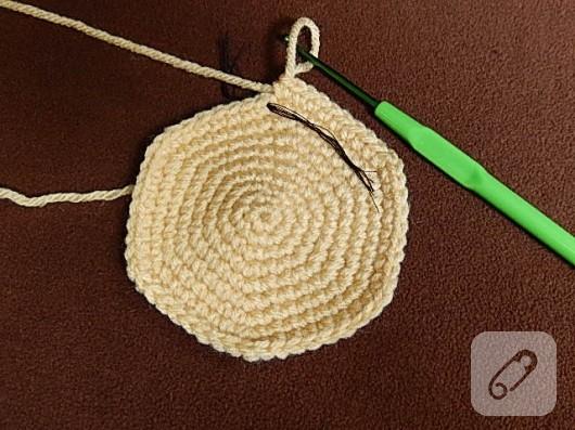 Penye İpten Sepet Yapımı - Örgü Sepet Yapımı Anlatımlı Resimli   397x530
