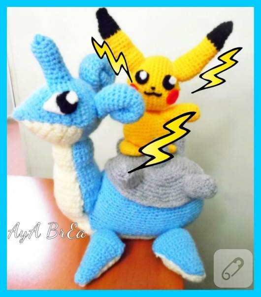 Amigurumi Sad Pokemon : Amigurumi Pokemon Lapras oyunca?? 10marifet.org